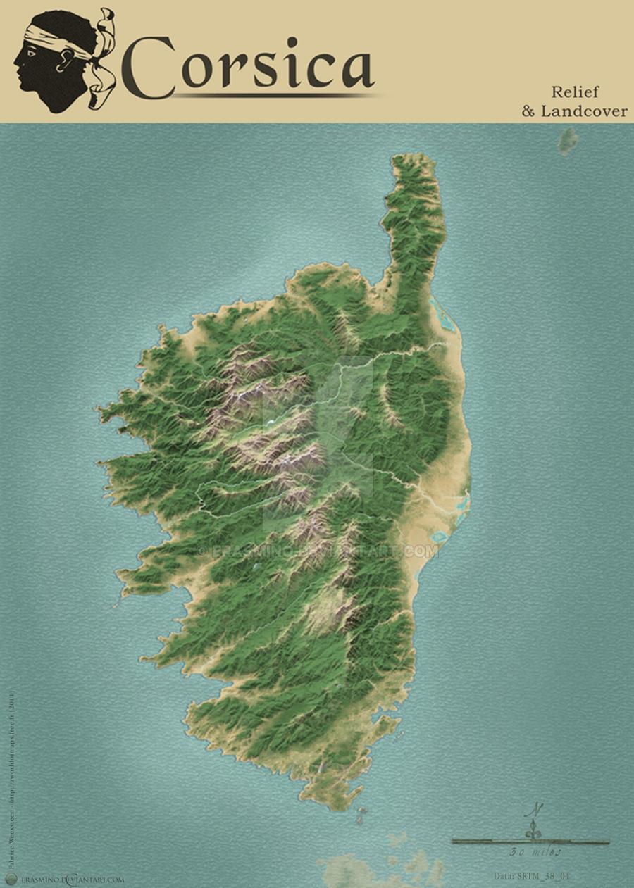 Corsica Map By Erasmino On Deviantart
