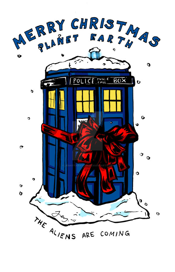 Doctor Who Christmas Cards.Tardis Christmas Card Doctor Who By Jennytaravosh On Deviantart