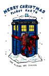 Tardis christmas card - Doctor Who