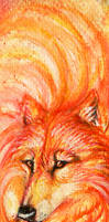 Flame Wolf bookmark