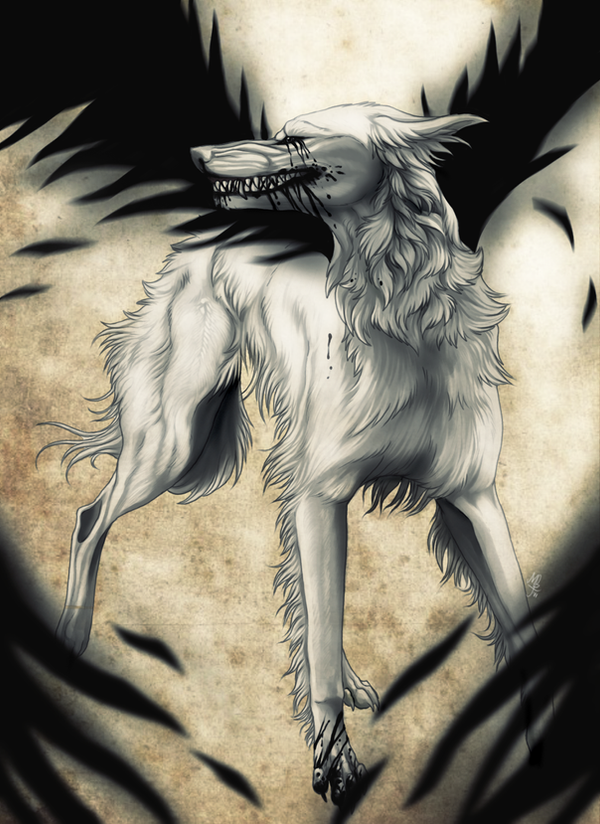 Cool Drawings Of Angel Wolves