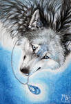 ACEO Labradorite Wolf