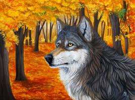 The Autumn Wolf by wolf-minori
