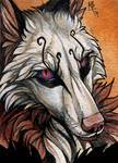 The gaze - ACEO for ArKadia-wolf by wolf-minori