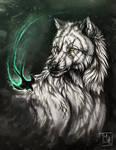 Gwynbleidd and Zireael by wolf-minori