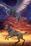 Run at the Sunset by wolf-minori