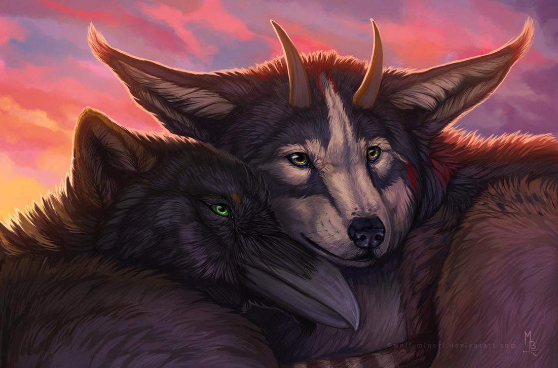 Keeping warm by wolf-minori