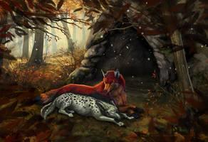 Moment of peace by wolf-minori