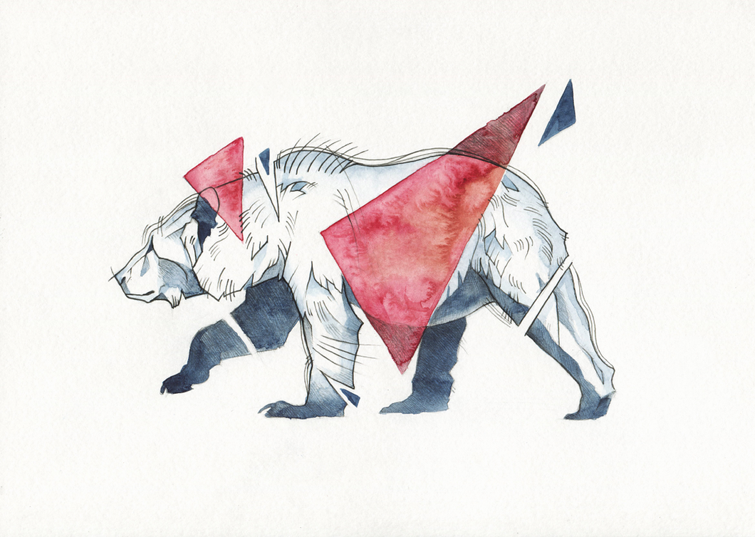 Bear With Triangles By Wolf Minori