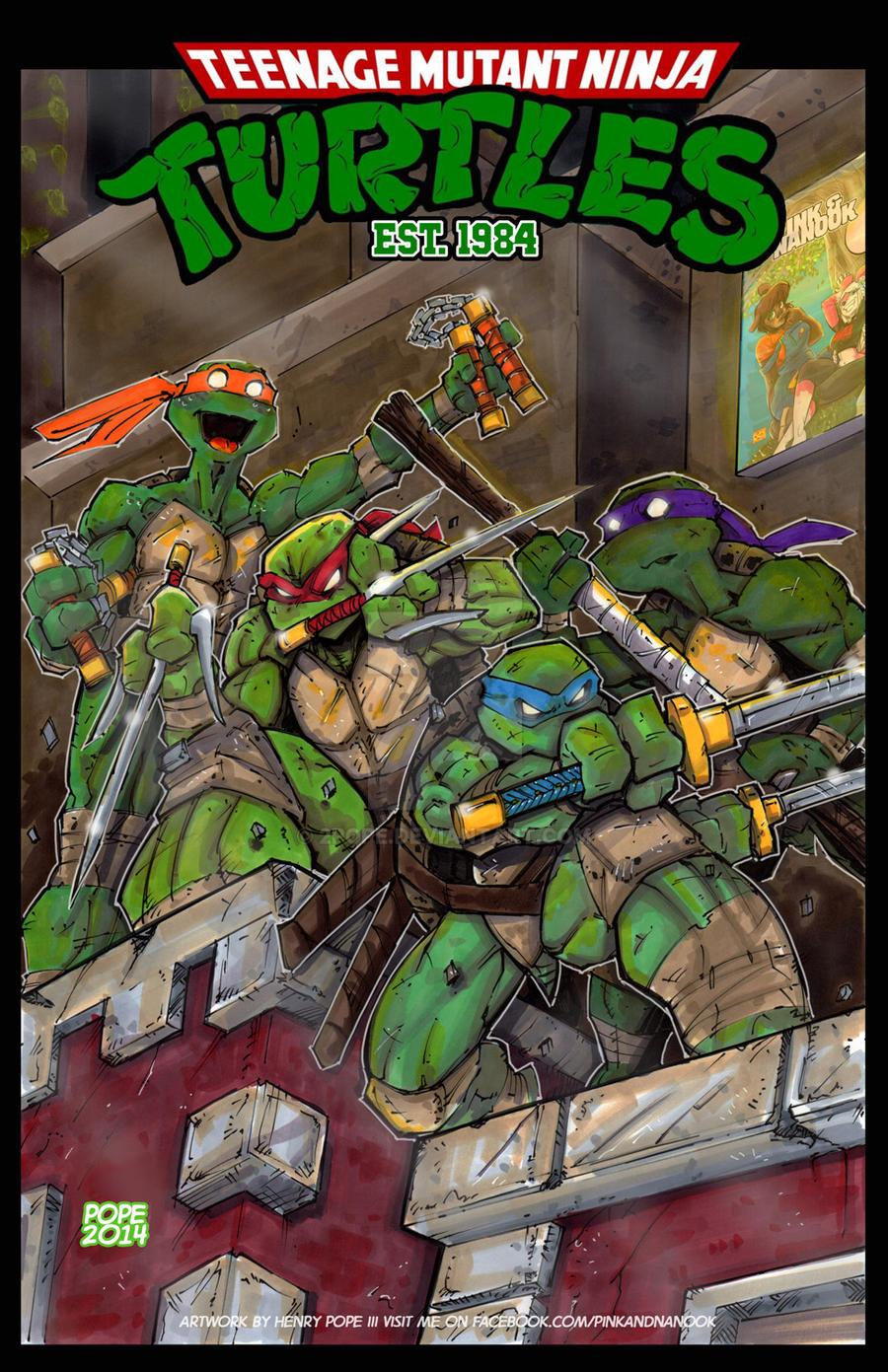 Teenage Mutant Ninja Turtles Est. 1984 by 2POPE on DeviantArt
