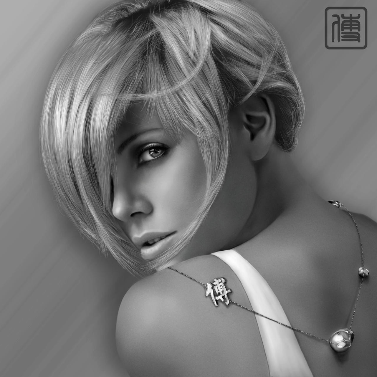 Charlize Breil Digital Paint by JoeDieBestie
