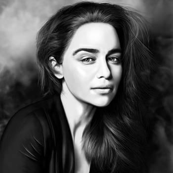 Emilia Clarke (Game of Thrones) Digital Drawing by JoeDieBestie