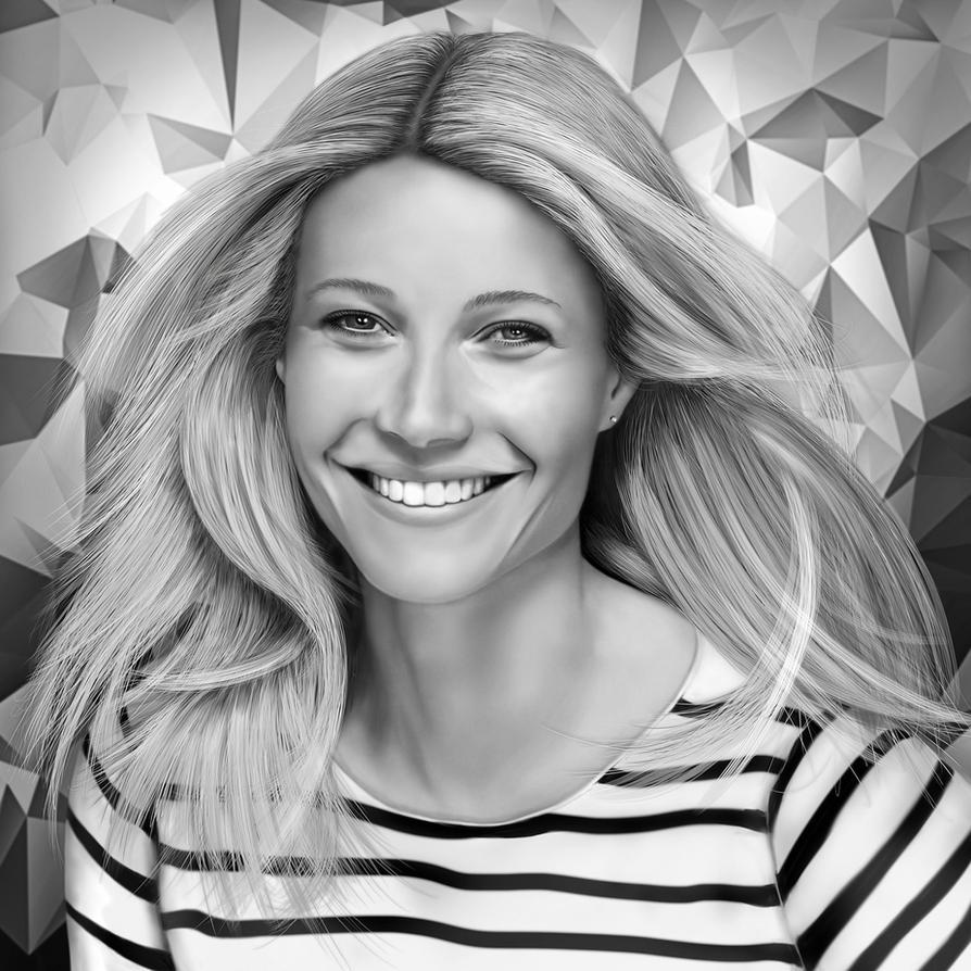 Gwyneth Paltrow Digital Drawing by JoeDieBestie