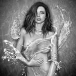 Miranda Kerr Liquid Water Dress Digital Drawing