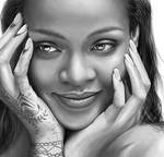 Digital Drawing of Rihanna