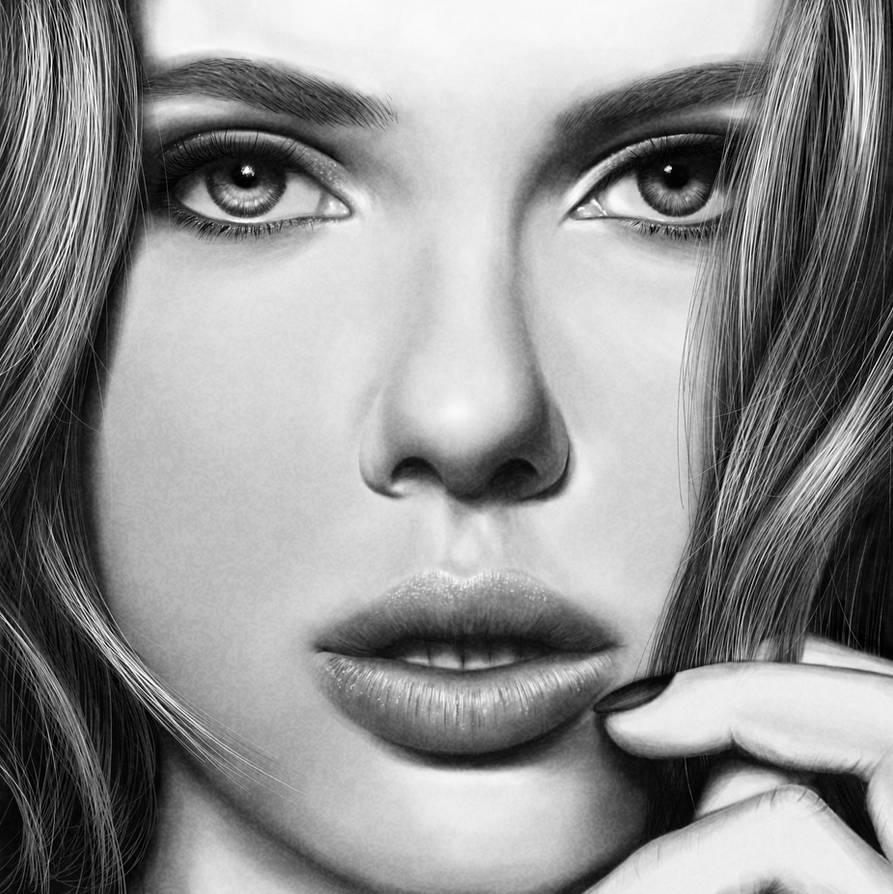 Scarlett Johansson Drawing by JoeDieBestie