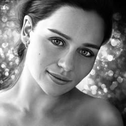 Emilia Clarke Drawing by JoeDieBestie
