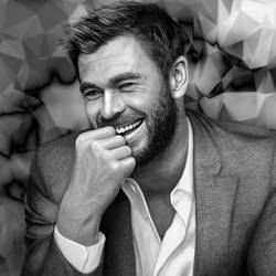 Chris Hemsworth Drawing by JoeDieBestie