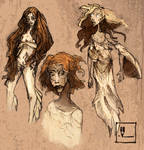 Lady midday [sketches]