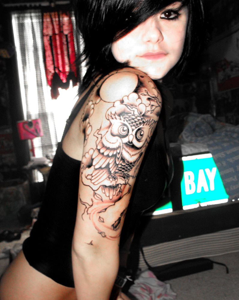 New Owl Tattoo by xmellowdeex