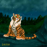 i'll do my crying in the rain by TigresaDaina