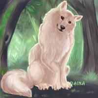 Wolfy Smile by TigresaDaina