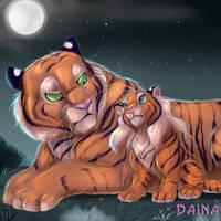 Father and Daughter by TigresaDaina