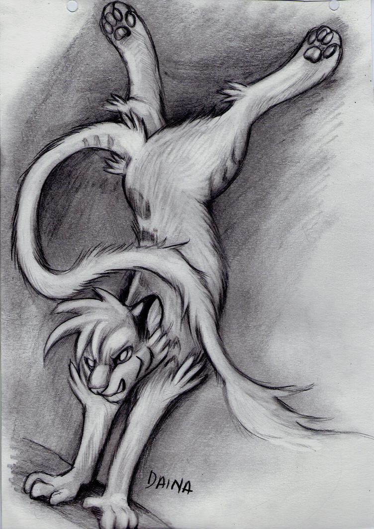 Liger in graphite by TigresaDaina