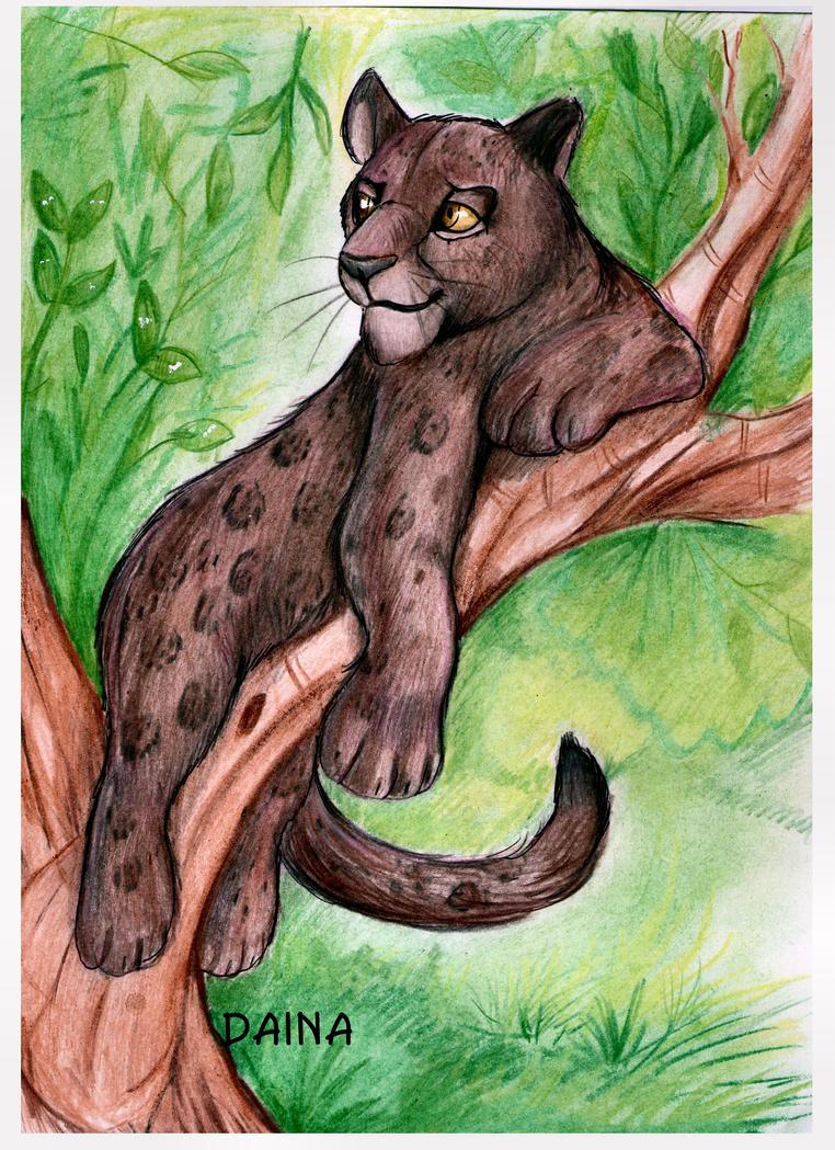 Lazy jaguar by TigresaDaina