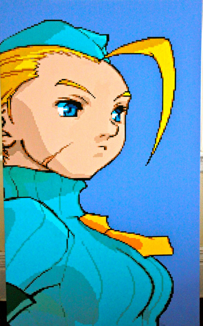 Cammy White Pixel Painting