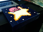 Kirby Flying Star pixel painting 2