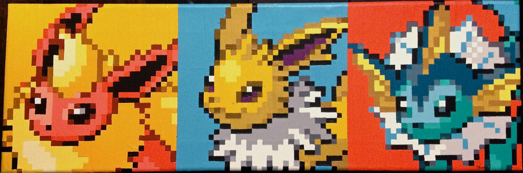 Eevee Evolutions Pixel Painting by RubiksPhoenix
