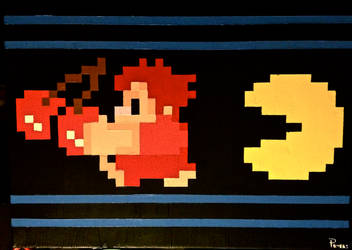 Wreck It Ralph Pacman Chase Canvas Painting