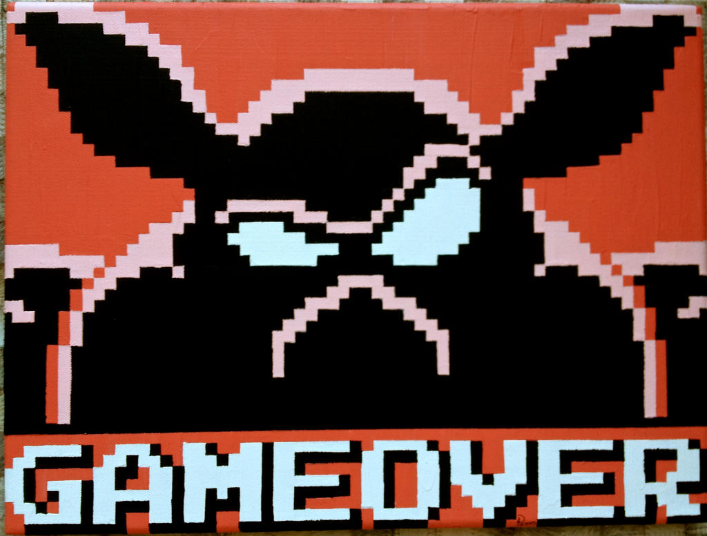Ganon Game Over Pixel Painting by RubiksPhoenix