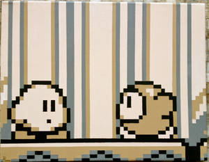 Kirby's Dream Land Pixel Painting