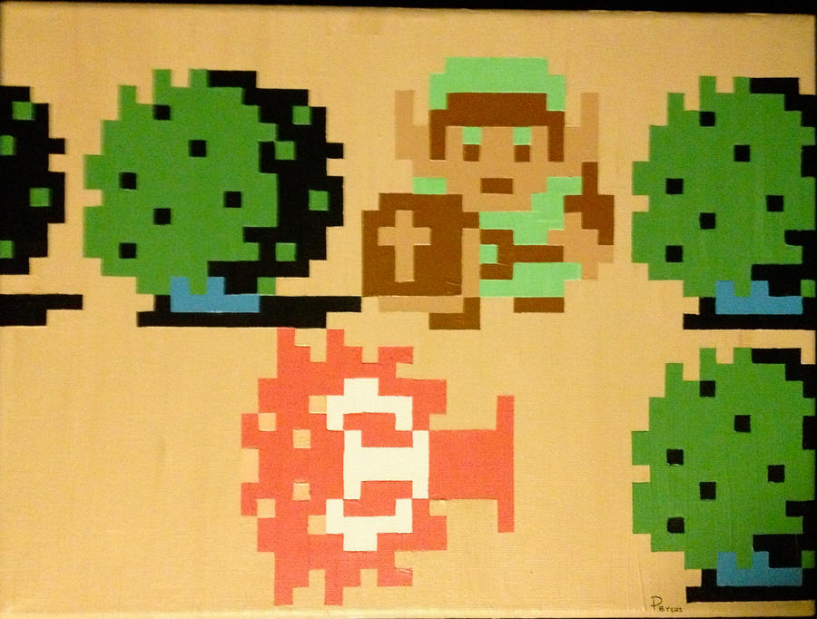 Legend of Zelda pixel painting by RubiksPhoenix
