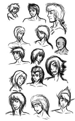 sketches: male OCs