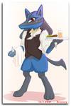 Classy Lucario waiter by EroRoxy