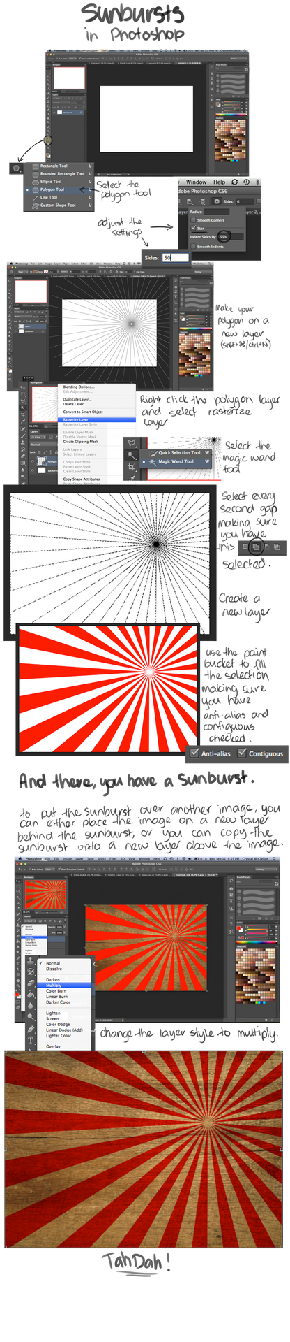 How to Create a Sunburst in Photoshop CS6 by RTNinja
