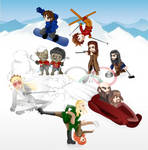 Winter team - Middle-earth by veveco