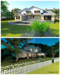 House Rendered from 2 Angles