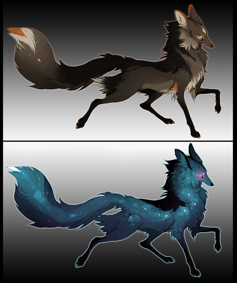 Freckle Foxes set 1 - OPEN - by foxchirps