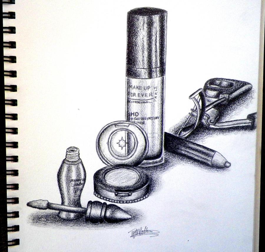 Makeup Still Life by RavenSparrow17 on DeviantArt