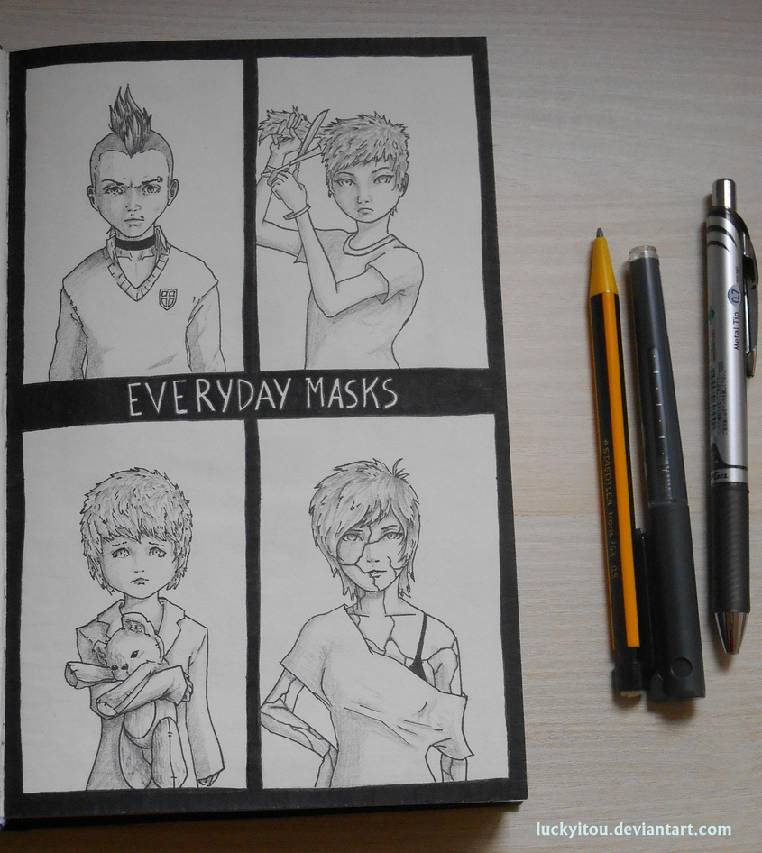 Everyday Masks by LuckyItou