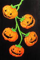 Inktober 27 - Pumpkins by TheUnconfidentArtist