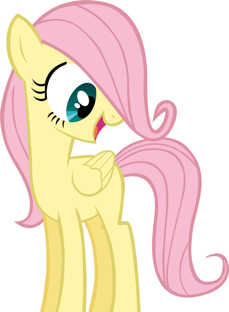Filly Fluttershy by Queina on DeviantArt