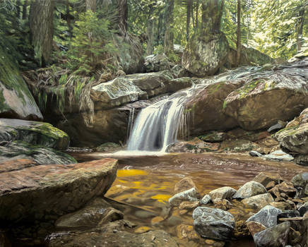 River - Landscape oil painting