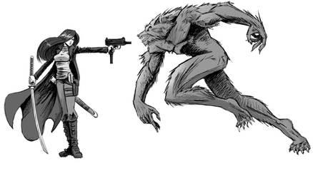 Monster Hunter vs Werewolf