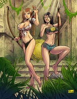 COMMISSION: Jungle city girls... by Shono
