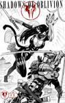 One Sketch 31: Nekotsu vs Cerberus by Shono